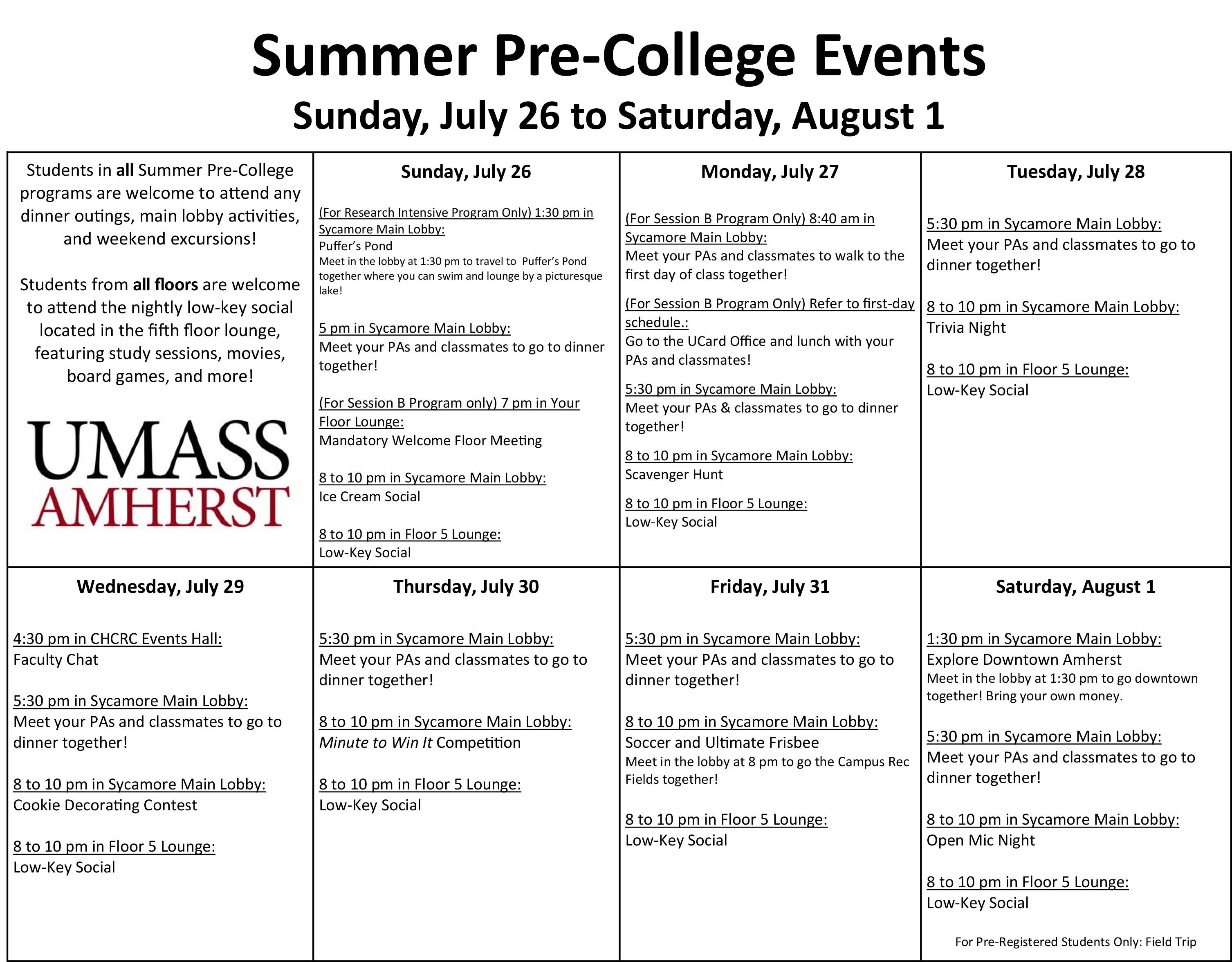 Summer_Pre-College_Event_Calendar_July_26_-_Aug_1