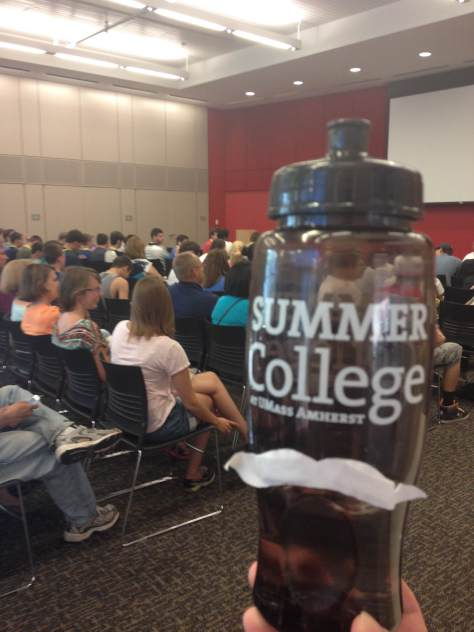 Walter Bottle joined all Session B students in the general welcome meeting