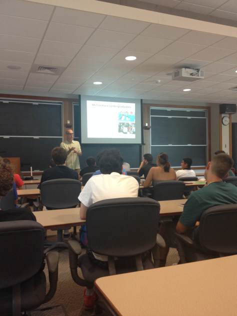 Professor Todd Crosset ginving a brief overview of what Sport Management means