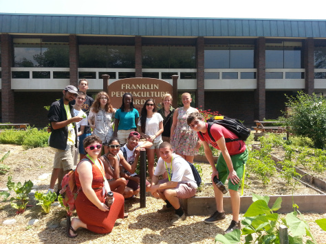The SILS students enjoyed a detailed visit of the Permaculture Garden at UMass