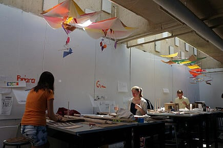 Students in the SDA created a canopy on their first day and are now tackling house projects