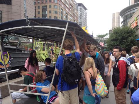 Thankfully it didn't rain until we got on the Duck Boat