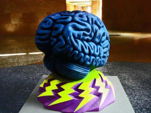 Artistic rendition of a brain