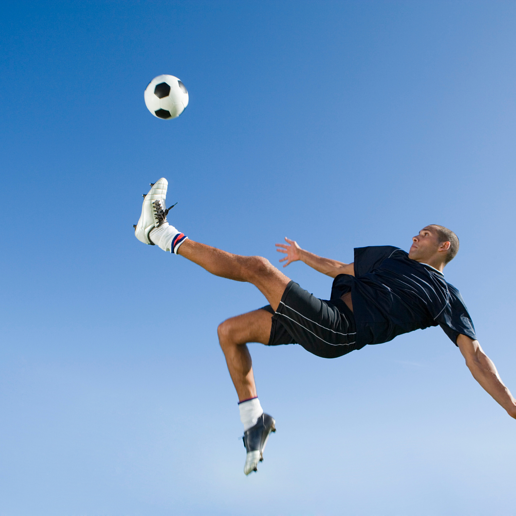 Soccer ball kick